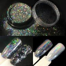 Holographic Laser Glitters Galaxy Holo Flakes 0.5g/box Bling Rainbow Flecks Chrome Magic Effect Irregular Nail Art Powders