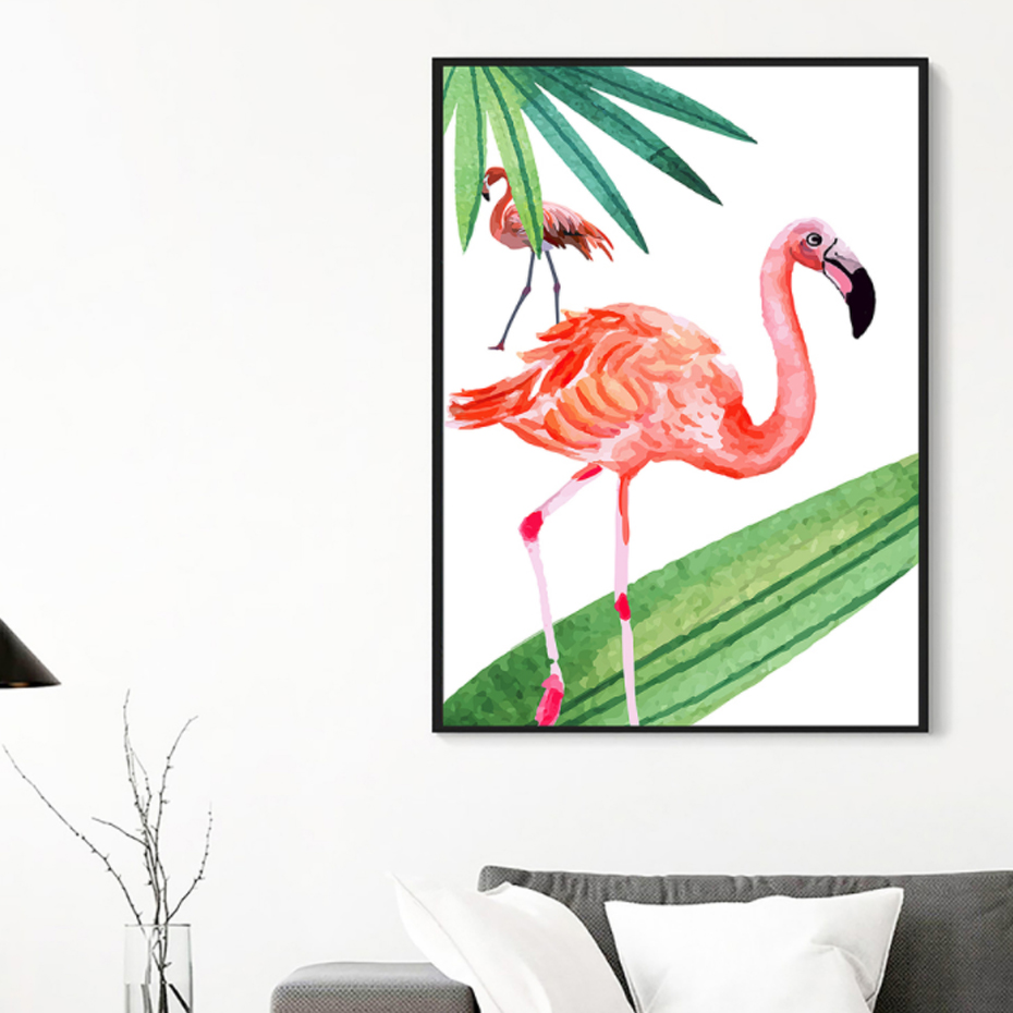 aliexpress com buy new pink flamingo canvas paintings animals