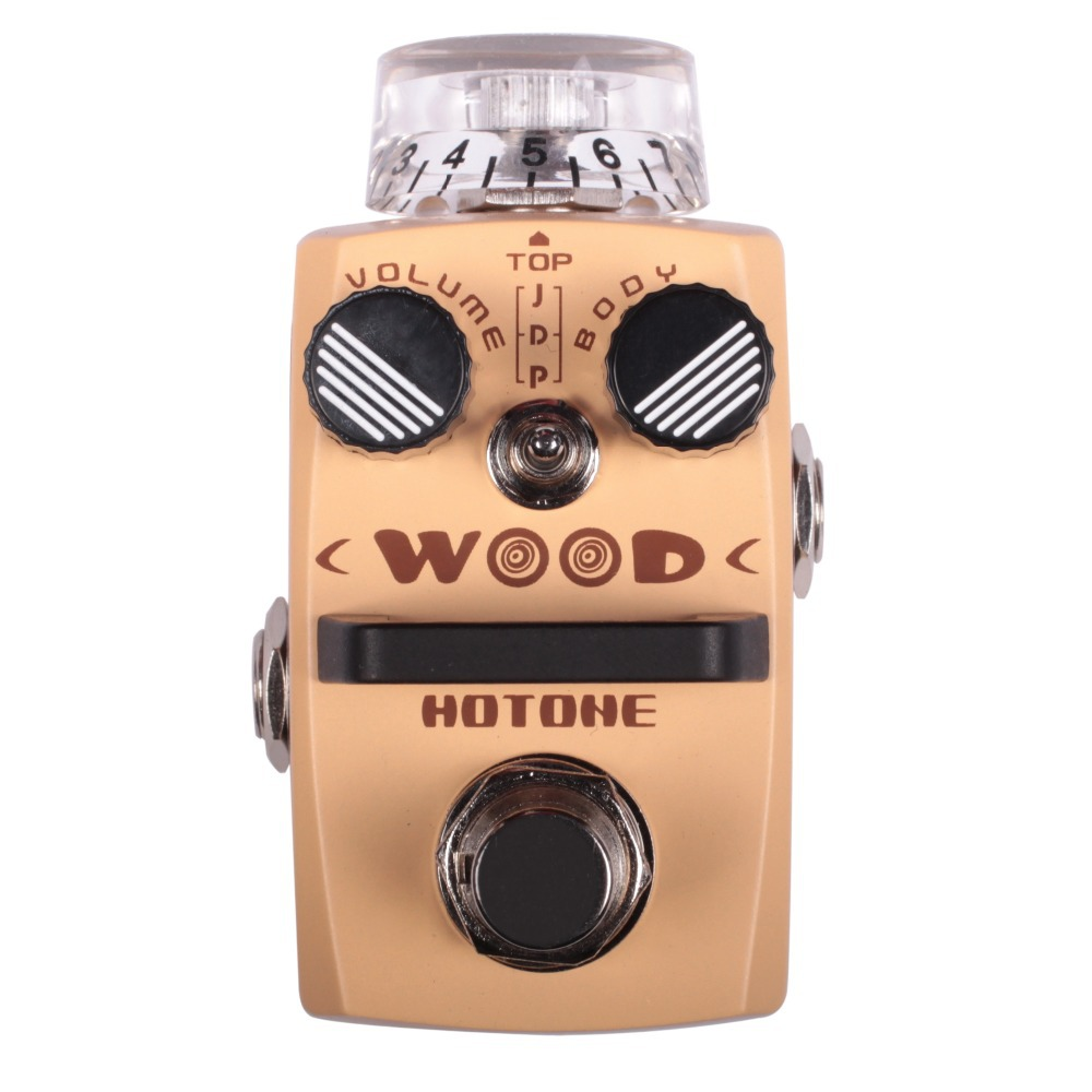 Hotone WOOD Acoustic Guitar Simulator Effect Pedal Jumbo Dreadnought Piezo Modes Effects Stompbox for Electric Guitar two way regulating lever acoustic classical electric guitar neck truss rod adjustment core guitar parts