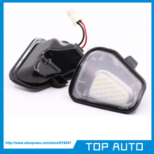 2 шт. светодиодный боковое зеркало лужа лампы без ошибки для Vw Volkswagen EOS Passat B7 CC Scirocco Jetta