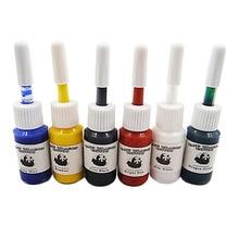 6 teile / satz Tattoo Ink Microblading pigment Set Kits Professionelle Multi Farben Body Art Zubehör Permanent make-up pigment liefert