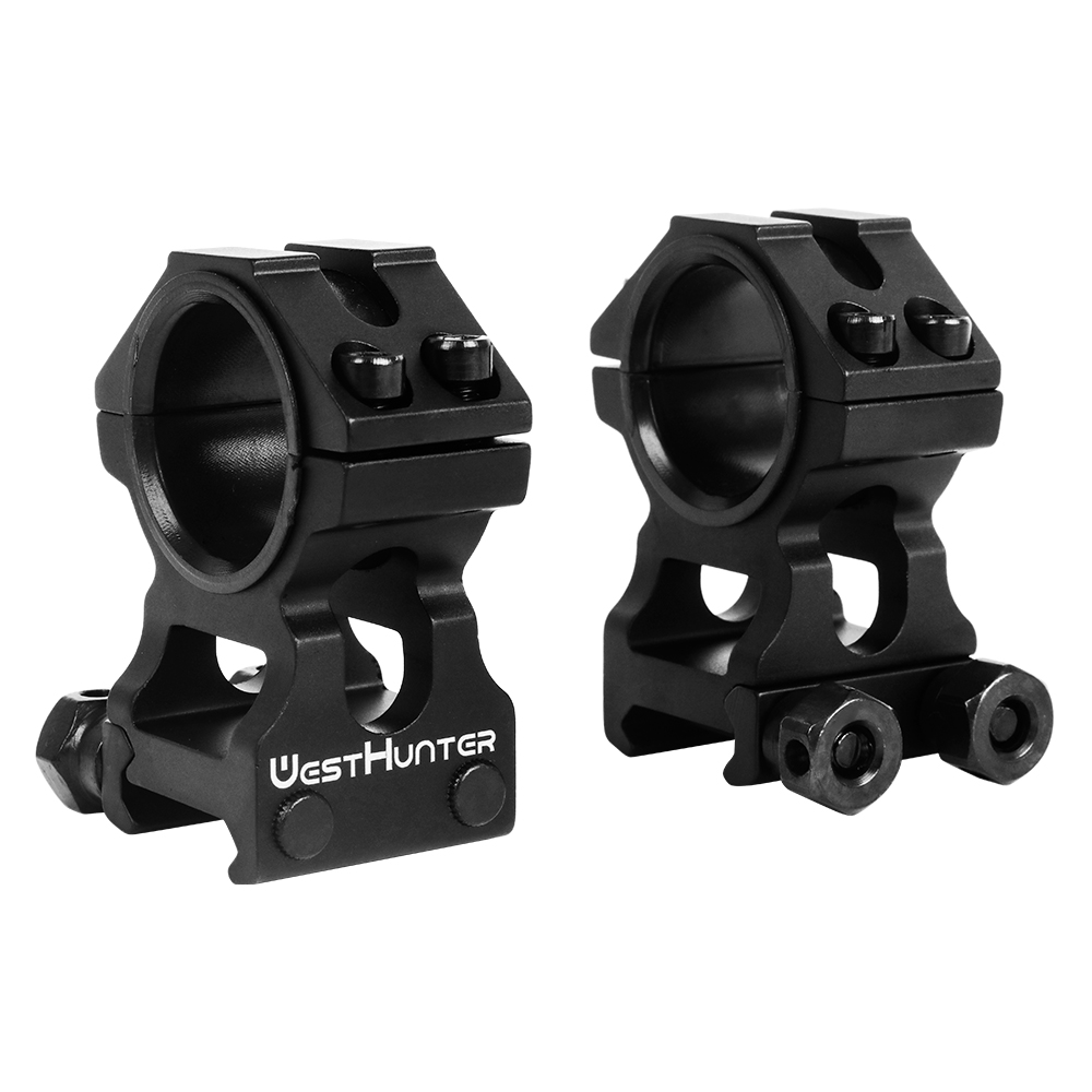 WESTHUNTER Universal Tactical Rifle Scope Mounts 25.4MM/30MM Dual Rings Full CNC Process Picatinny Rail Optical Sights Mounts