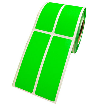 цена на 2019 fashion 1*3 inch Fluorescent green rectangular color-coded sticker   permanent adhesive, write-on Surface
