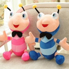 Cute Rainbow-Colored Big Eyes Ant Figurine Bee Doll Plush Toy Children's Pillow Girl Children's Holiday Gift Home Decoration(China)
