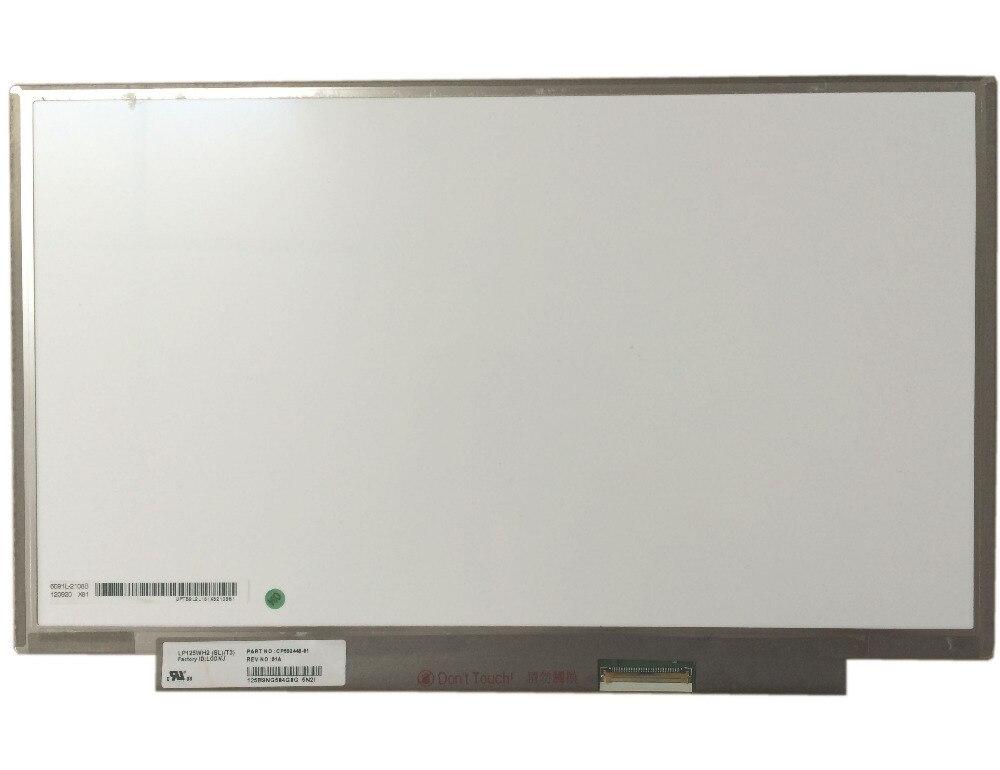 Free Shipping LP125WH2 SLT3 (SL)(T3) NO screw holes 40PIN LED LCD Screen Display Panel flat panel display