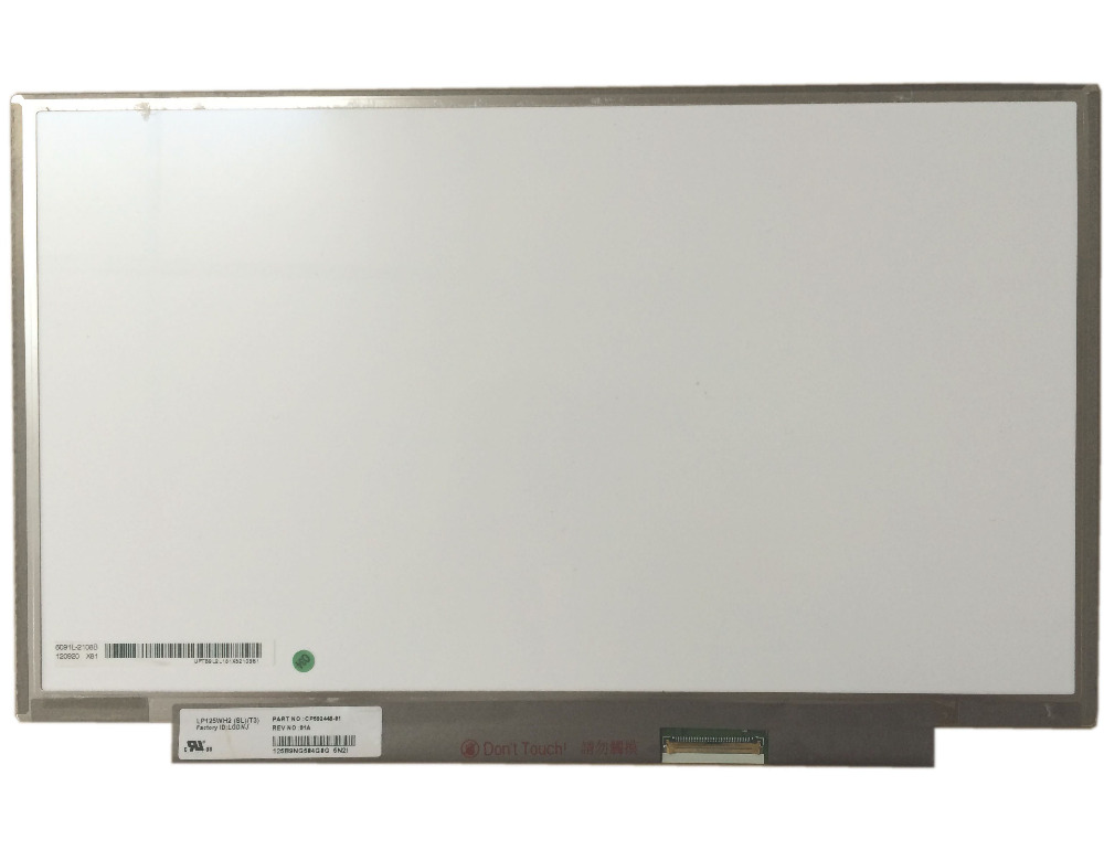 LP125WH2 SLT3 (SL)(T3) NO screw holes 40PIN LED LCD Screen Display Panel