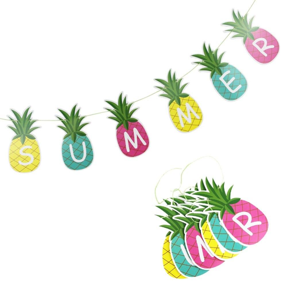 Hawaiian Luau Flamingo Party Decorations Happy Summer Party supplies ...