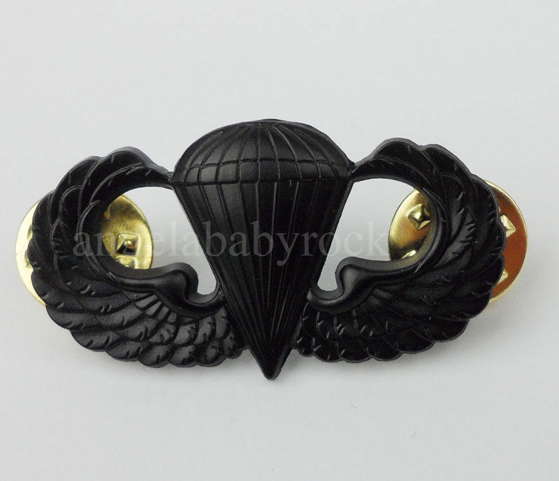 US $7 75 |WW2 US ARMY AIRBORNE PARATROOPER PARACHUTIST JUMP WINGS BADGE  INSIGNIA PIN BLACK-in Sports Souvenirs from Sports & Entertainment on