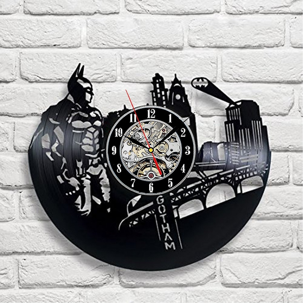 Vintage Batman Vinyl Record Designer Wall Clock Decorate