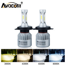 Avacom 2Pcs H7 LED Turbo H4 Car Headlight Bulb COB H11/H8/H9 H1 H3 9005/HB3 9006/HB4 Hir2 H27 8000LM 6500K 12V 24V Auto Voiture(China)