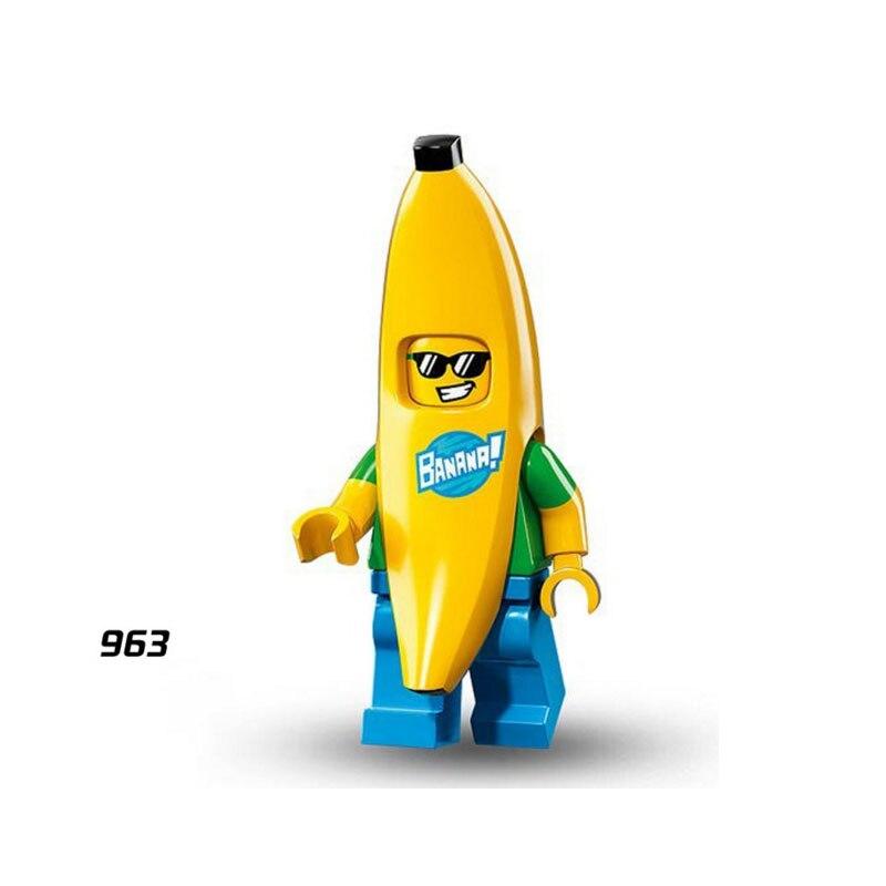 Single Sale Super Heroes Star Wars 963 Mr Banana Guy Mini Building Blocks Figure Bricks Toys Kids Gift Compatible Legoed Ninjaed