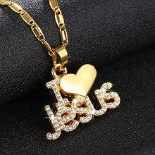 Sonya colar e pingente de coração de jesus, colar e pingente dourado com pingente, joia cristã