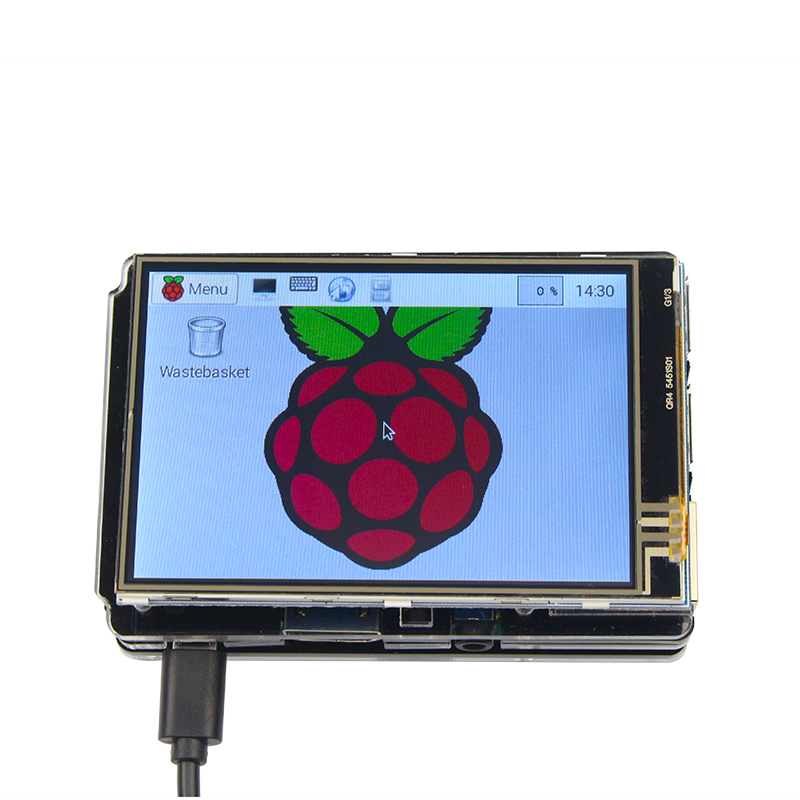 Raspberry Pie 3 Generation 3.5 Inch LCD Touch Screen Touch Display Resistance Touch IO Foot Touch Pen