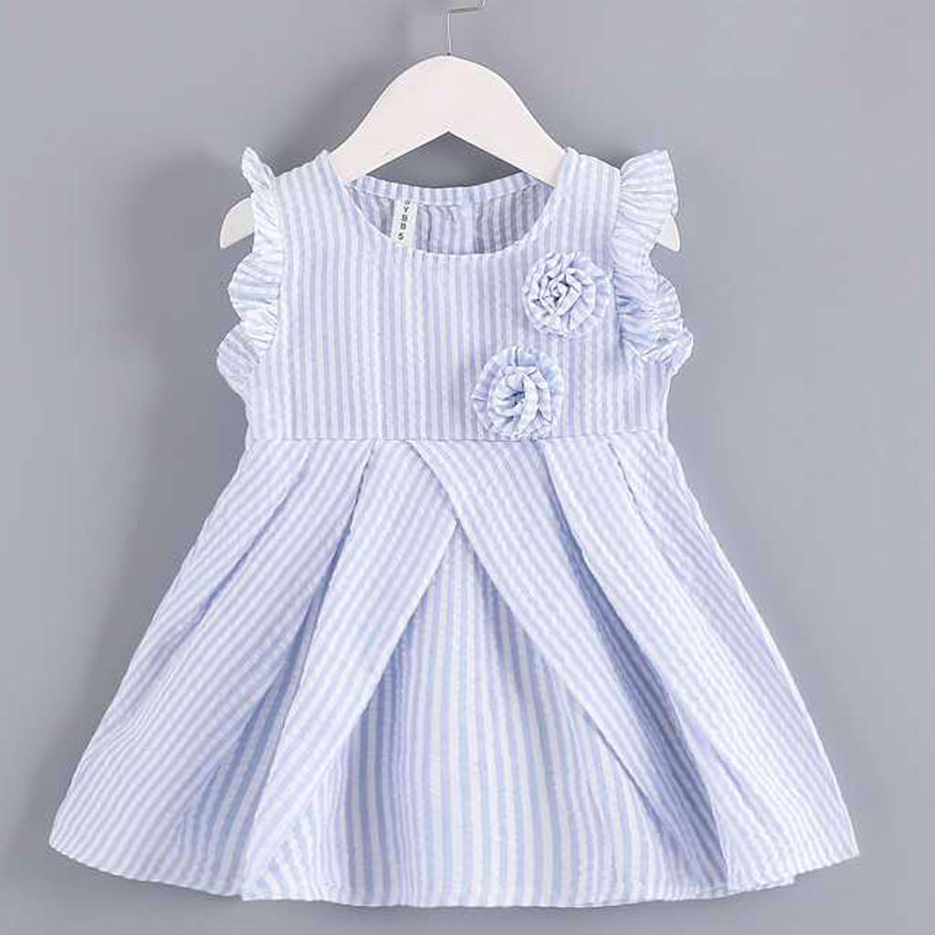 Summer Girls <font><b>Dress</b></font> Toddler Baby Princess <font><b>Dress</b></font> Party Wedding Kids <font><b>Dresses</b></font> Solid Flower Clothes <font><b>Birthday</b></font> vestidos niña verano 4 image