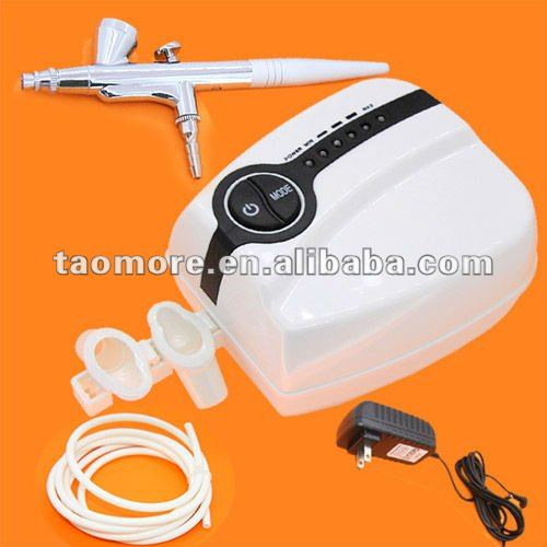 Portable Makeup Airbrush Mini Airbrush Compressor 5 Speed Airbrush with spray gun Hot sale EMS & DHL Free shipping