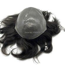 Парик из тонкой кожи натуральные волосы remy