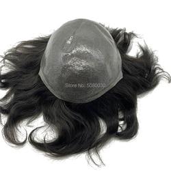 Dunne huid toupetje natuurlijke haarlijn remy haar stukken voorraad