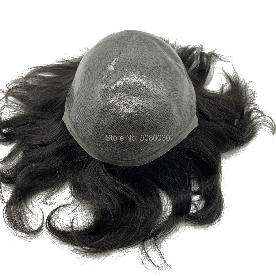 Парик из тонкой кожи натуральных волос remy наращивание натуральных волос на складе