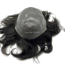 Peluquín de piel fina natural, cabello remy, piezas en stock