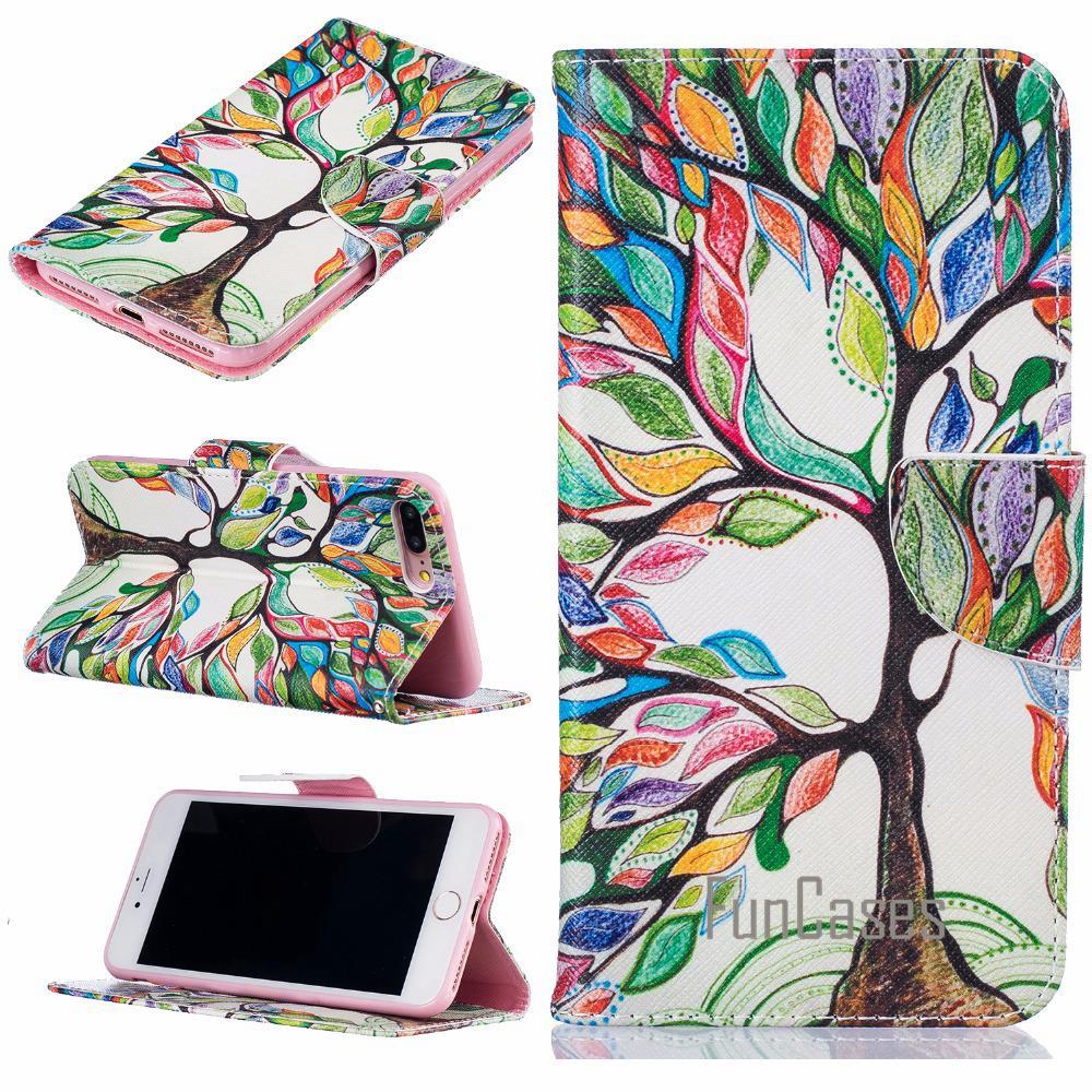 Funda para funda para iPhone 8 Plus funda para iPhone 8 Plus 8 Plus funda para iPhone 7 Plus 5,5 pulgadas + tarjeta soportes fhone etui iphone