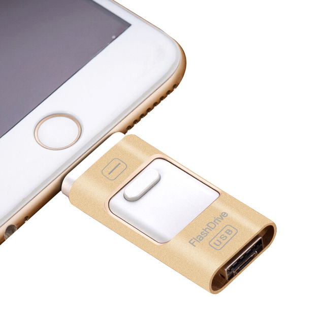 OTG USB Flash Drive 16GB 32GB 64GB PENDRIVE For iPhone 6, 6 Plus 5 5S ipad Pen drive HD memory stick Dual purpose mobile