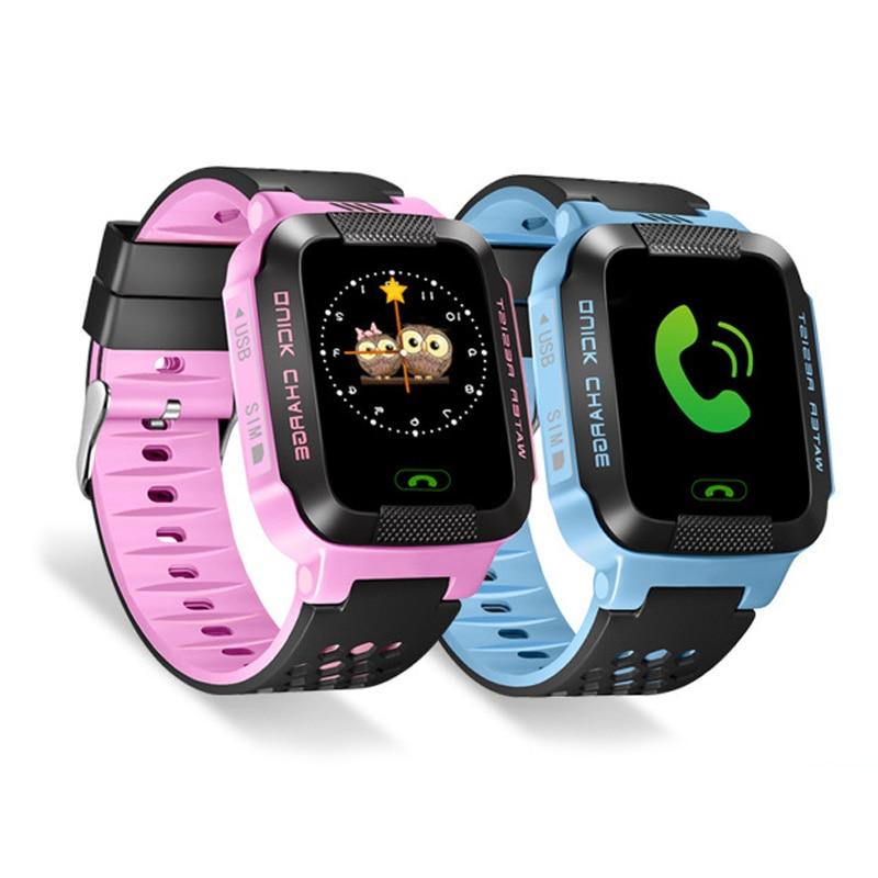 imágenes para Y03 niños reloj inteligente táctil de 1.44 pulgadas a color de pantalla grande con la linterna LBS posicionamiento SOS llamada de teléfono reloj inteligente PK Q80