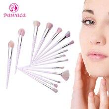 Pawaca New Unicorn White Spiral Makeup Brush Eye Shadow Contour Powder Foundation Brush S Shape Cream