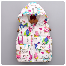 Autumn font b Winter b font Children Clothing Girls Outerwear Animal Graffiti Thick font b Coats