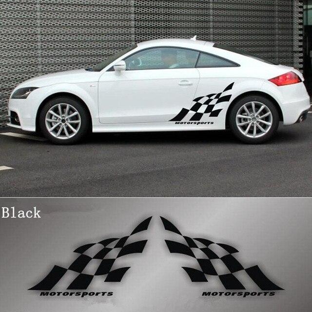 racing drapeau vinyle autocollant de voiture porte sticker autocollants de voiture corps. Black Bedroom Furniture Sets. Home Design Ideas