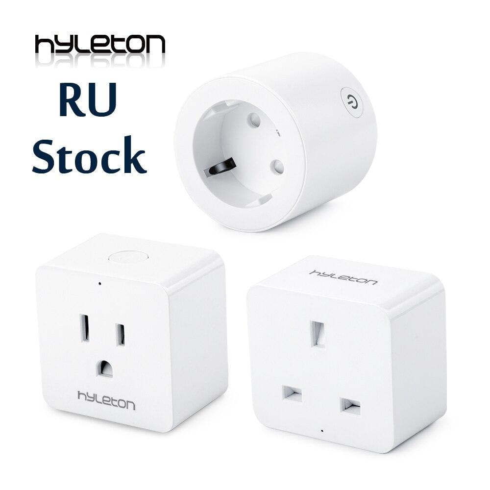 Hyleton smart plug 10A domótica wifi socket 100-240 V Control remoto EU/US/AU Wifi socket trabajo con Alexa y Google