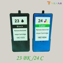 For Lexmark 23 24 Ink Cartridge For Lexmark Z1420 X4550 X3550 Z1410 X3530 X4530 printer For Lexmark23