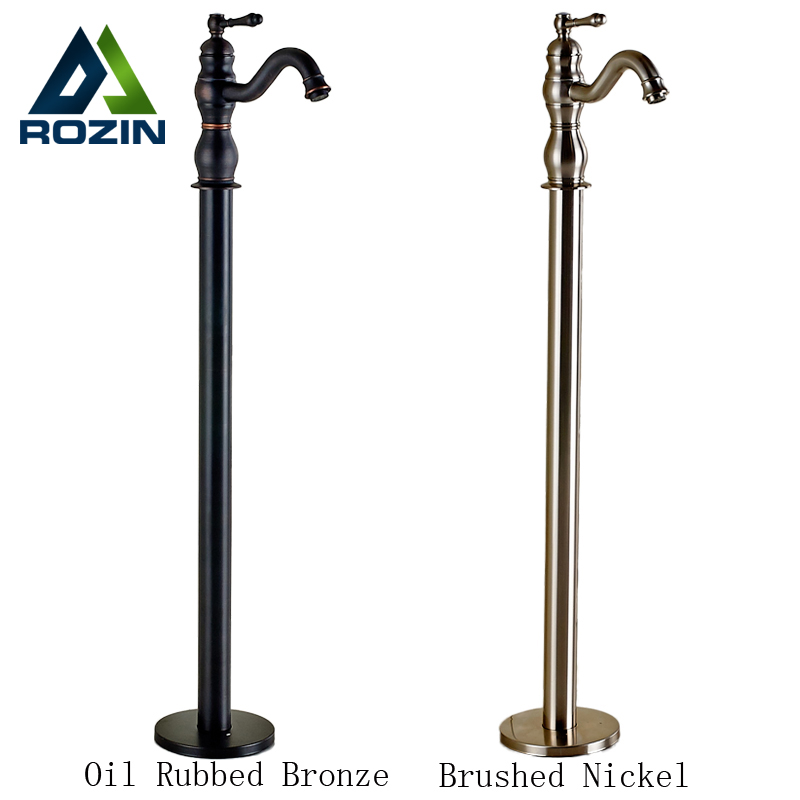 New Wholesale And Retail Modern Floor Type Sitting Faucet Waterfall Bath Spout Bathtub Faucet