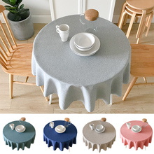 Simple modern European pastoral waterproof tablecloth hotel round fabric restaurant