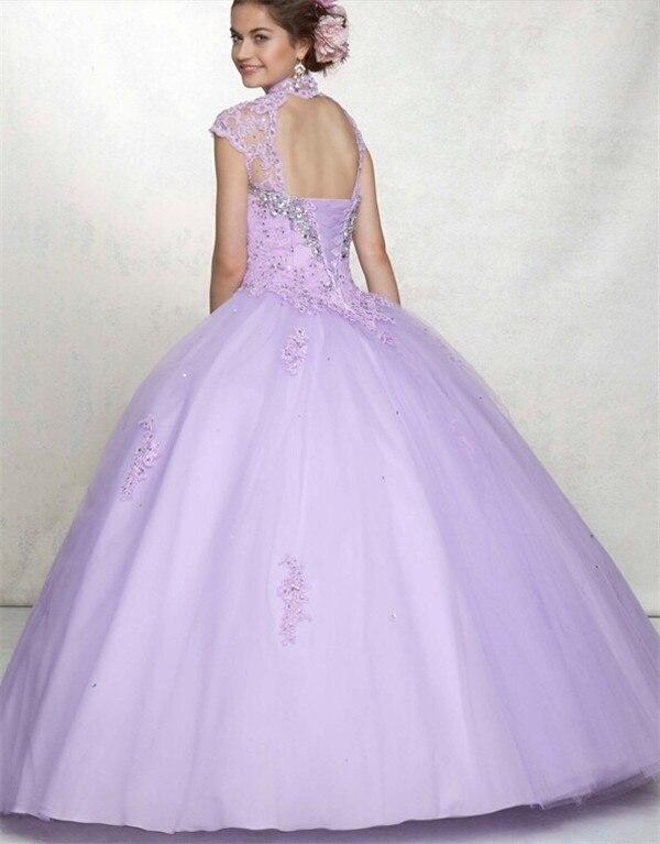 2014Custom Light Purple Ball Gown Quinceanera Dress Beads High ...