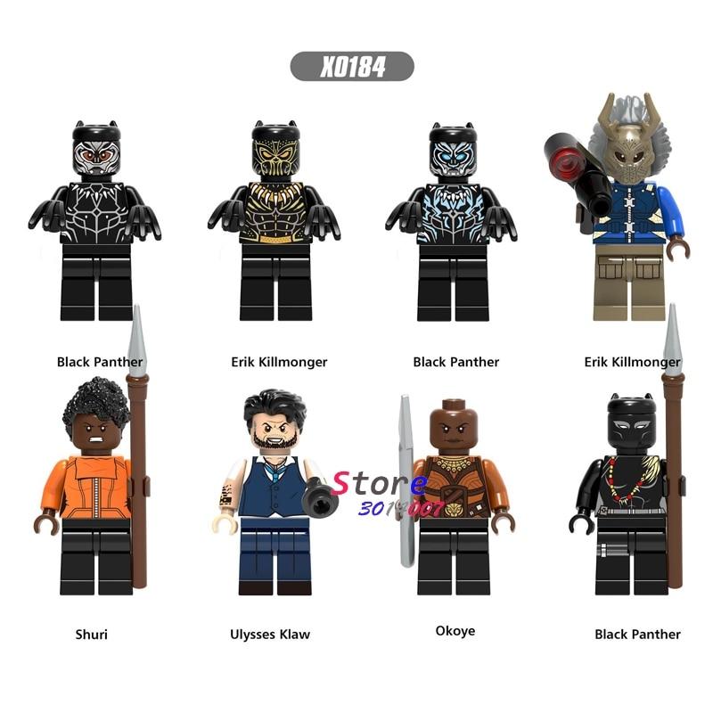 Single Marvel Avengers Infinity War Black Panther Erik Killmonger Shuri Ulysses Klaw Okoye building blocks toys for children