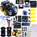 Projeto Inteligente Robot Car Kit com UNO R3 UNO, Ultrasonic Sensor, módulo Bluetooth, ect Carro Brinquedo Educativo para Arduino (Incluir CD)