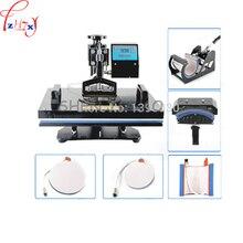 1PC 220V 110V 1350W 6in1 1350W 30 38cm T shirt Swing Away Heat Press Machine Shaking