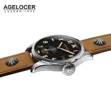 Switzerland Local Brand AGELOCER Men Watches Luxury Waterproof 316L Stainless Steel Mechanical Men's Watch Relogio Masculino