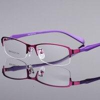 Retro Women Glasses Frame Clear Lens Oculos De Grau Alloy Luxury Business Eye Glasses Optical Frames