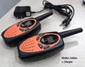 2pc orange TS628 Pair portable two way radio transceiver FRS GMRS walkie-talkie handy mobile radios Amador w/ charger headsets