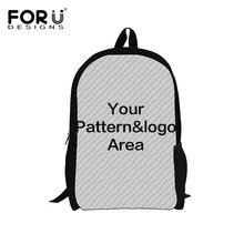 63801f22d4555 FORUDESIGNS Persönlichkeit Angepasst Jugendliche Schule Taschen Kinder Schul  Buch Bagpack Set Kinder 3 teile satz