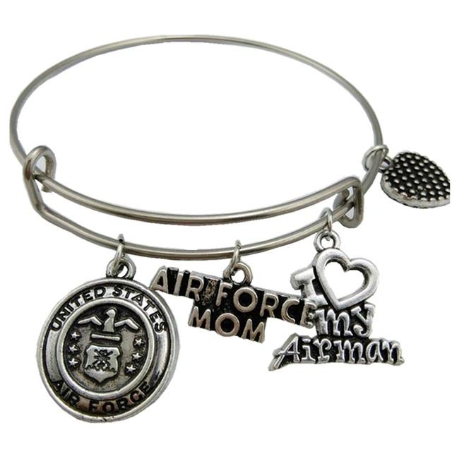 Fashion United States Air Force Mom Love Bracelet