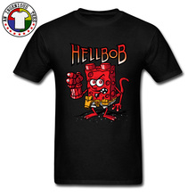 2019 Latest Design Funny T Shirts Comic Anime Hellbob Group T-Shirt O Neck 100% Cotton Fabric Men Tops Tees Happy New Year