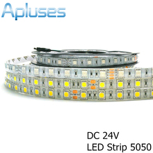 DC24V 5050 LED Strip 5M/Roll 300LED Waterproof LED Strips 5050 RGB Flexible Home Decoration Light