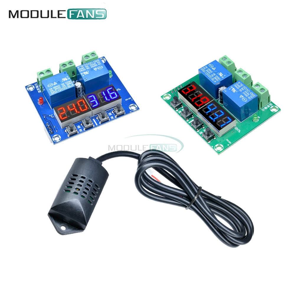 W1209 XH-M452 12V Digital LED Display Thermostat Temperature Humidity Controller