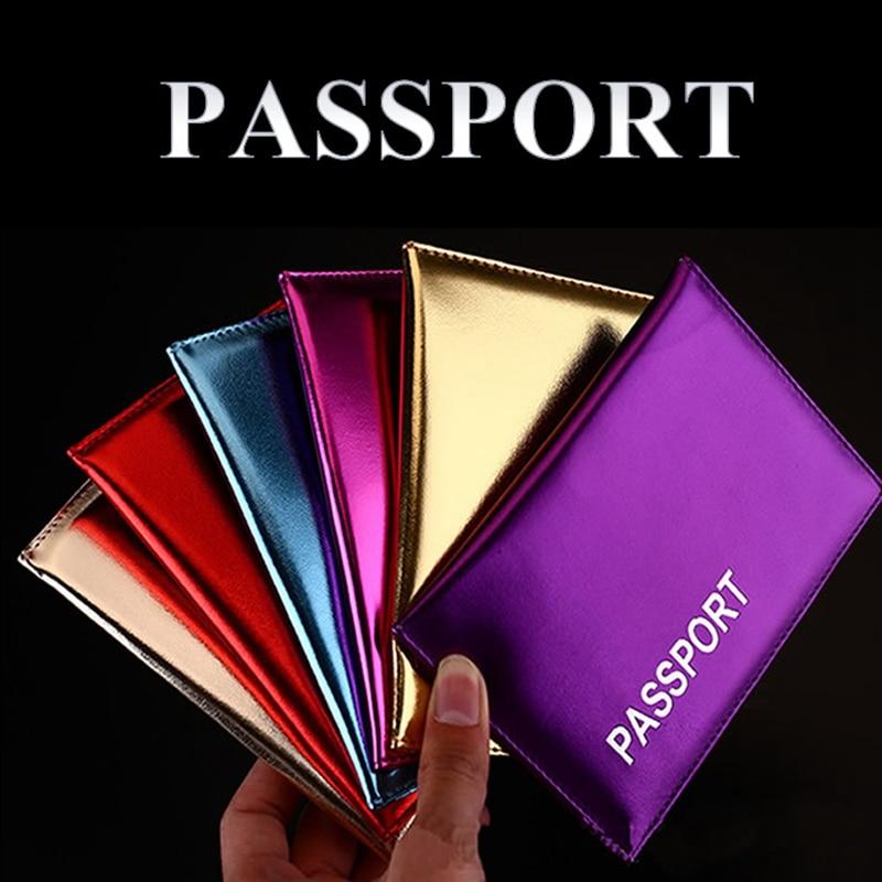 Travel Accessories Women Fashion Paillette Passport Covers Holder PU Leather ID Bank Card Passport Business Wallet Case 14*9.6cm