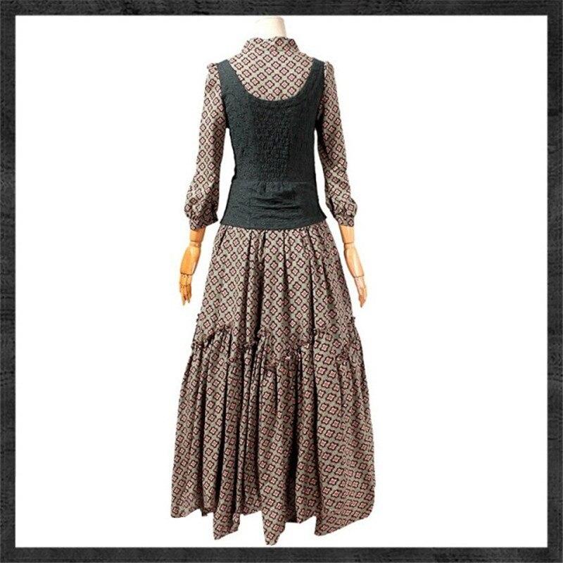 Free Shiping 2015 Vintage Floral Print Women Faux Twinset Design Long Maxi 3/4 Sleeve Autumn Gorgeous Knight Irregular Dresses