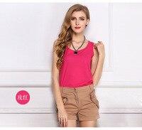 livagirl горячая распродажа тонкие женские майки повседневные тонкие легкие базовые стильные женские футболки без рукавов шифоновый жилет женская одежда