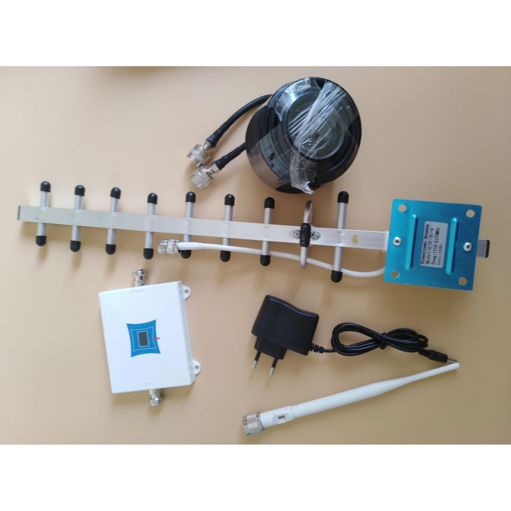 NEW 3G signal repeater W CDMA 2100Mhz Mobile Phone 3G Signal Booster , WCDMA 3G 3g signal amplifier +Yagi Antenna 50ohm cable
