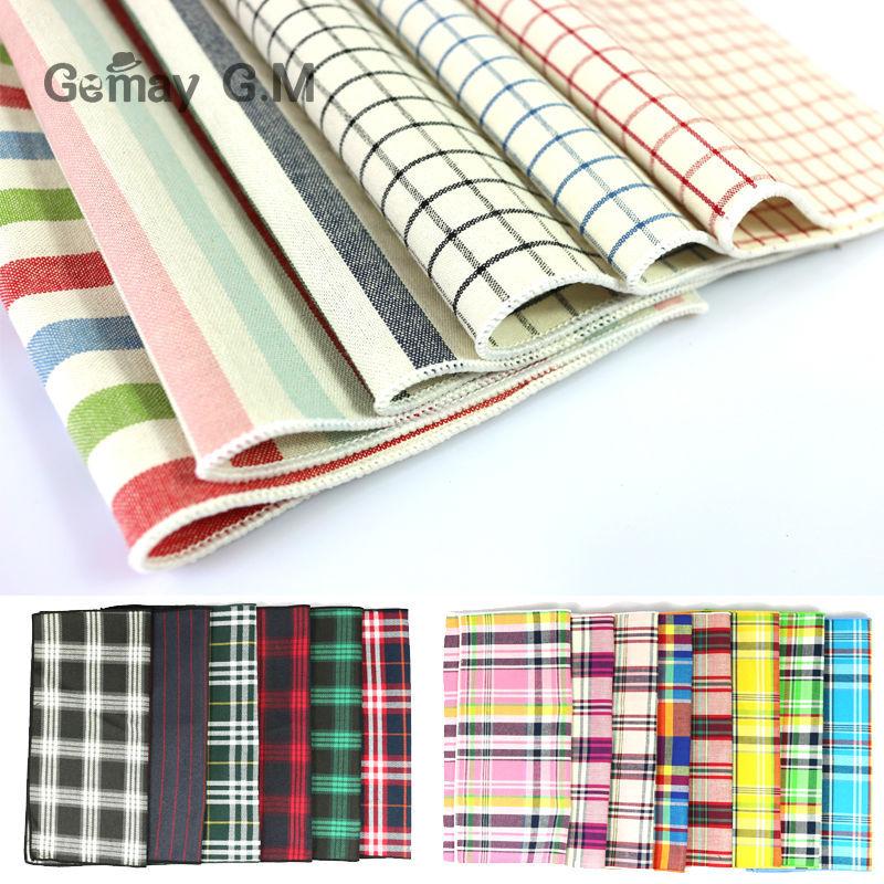 Cotton Suit Pocket Square Soft Plaid Cotton Handkerchief Fashion Pocket-Hanky For Men Mixed Colors Free Shipping